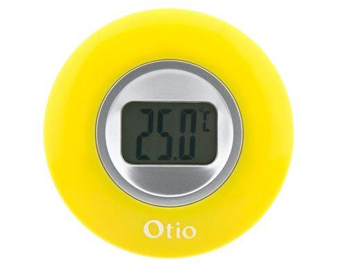 Otio thermomètre d'intérieur avec affichage LCD 77 mm jaune