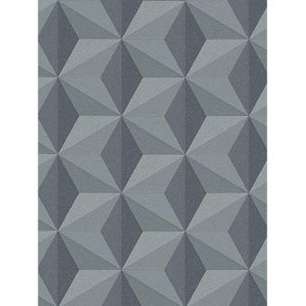 Geometrique Papier Peint Gris As Creation