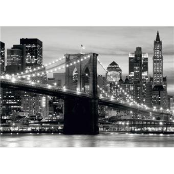 Papier peint Papier peint photo poster New York Ville Gris Pont 13n011p8