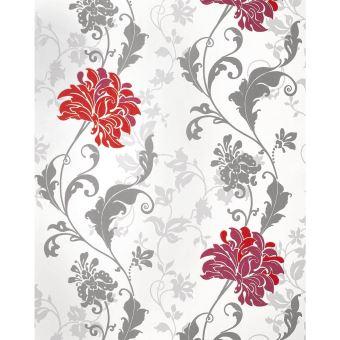 Papier Peint Floral Edem 833 25 Dessin Precieux Fleurs Et Feuilles