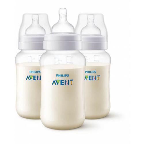 Lot de 3 biberons anti-colic 330 ml - philips avent