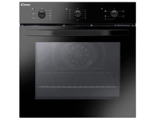 Candy Smart FCS 502 N/E - Four - intégrable - niche - largeur : 56 cm - profondeur : 56 cm - hauteur : 59 cm - classe A - noir