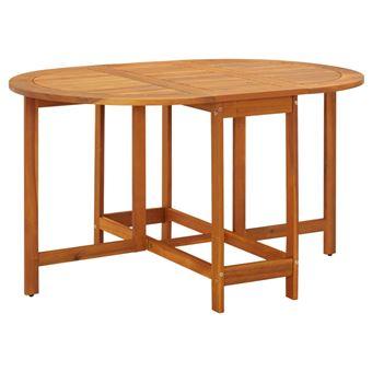 vidaXL Table à Abattants d\'Extérieur Table de Jardin Ovale Bois d\'Acacia