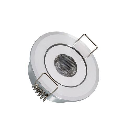 Spot LED Downlight Orientable COB Rond 1W Coupe Ø45 mm Blanc Chaud 3000K 60º
