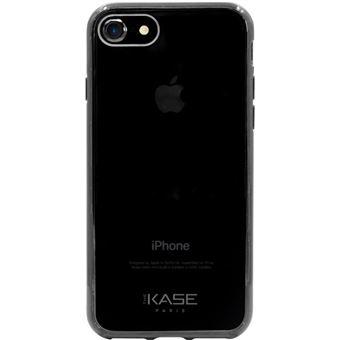 P2 Coque en silicone hybride invisible pour Apple iPhone 7 8 Black