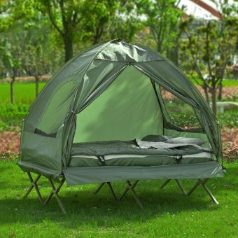 SoBuy® OGS32-L-GR 4-in-1! 2 Places Lit Pliant Lit de Camp