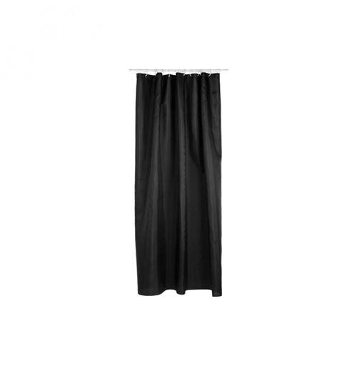 Rideau de douche - Polyester - 180 x 200 cm - Noir