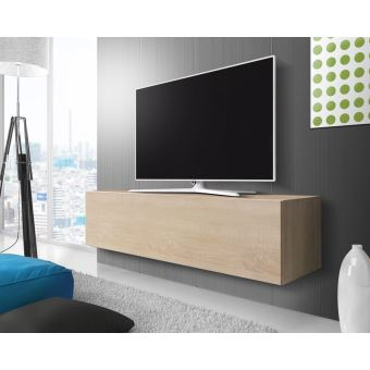 Point Meuble Tv Suspendu 140 Cm Effet Chene