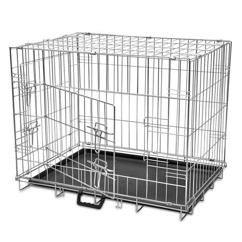 Cage métallique et pliable pour chiens L