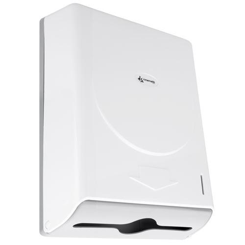 Distributeur d'essuie-mains en papier de couleur blanche 274x103x373mm