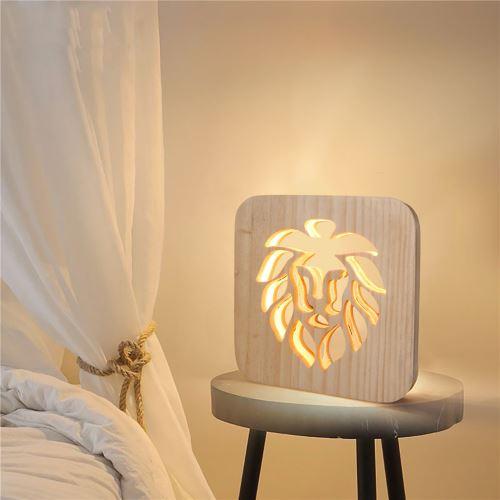 Creative Craft Décoration Lampe en bois Led Lumière Veilleuse Lampe de table_onaeatza454