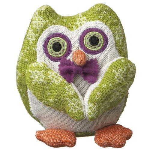 Monkeez Trisha Knit Owl Plush, Small