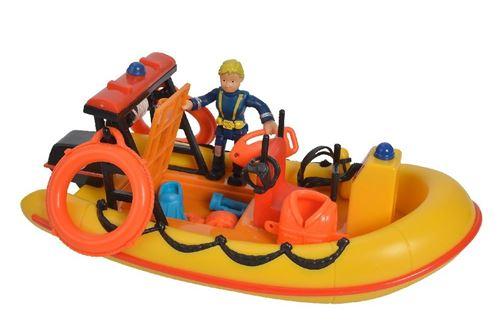 Simba set de jeu Pompier Sam avec bateau 19 cm jaune/orange