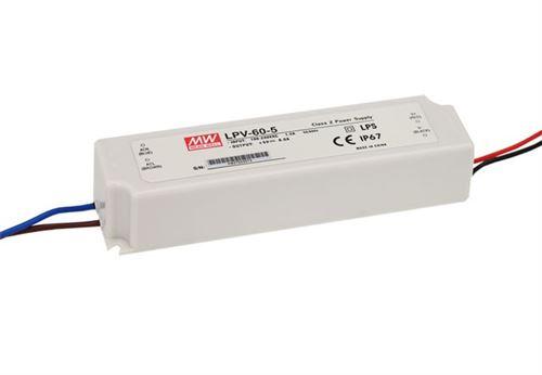 alimentation pour ruban led 24 volts 2.5a - 60w ip67