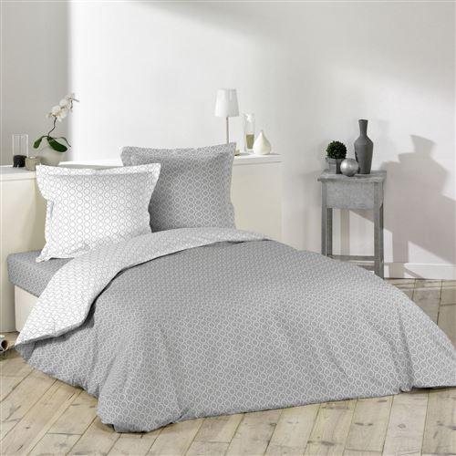 Housse de couette Zodiac gris/blanc 140x200 cm