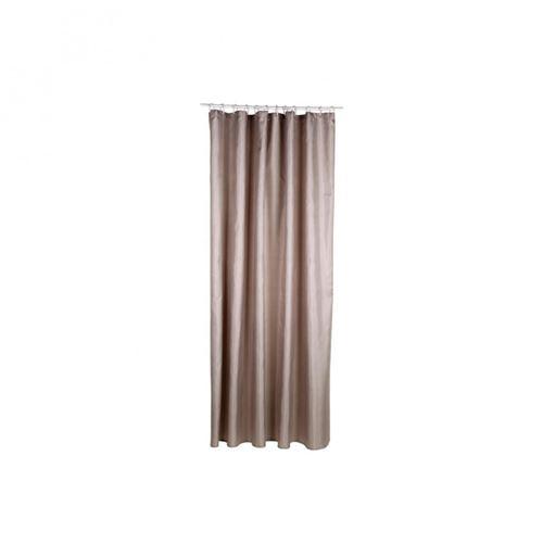 Rideau de douche - Polyester - 180 x 200 cm - Gris taupe