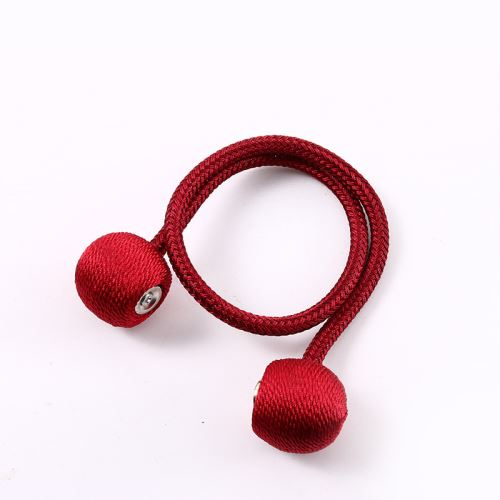 1pcs Embrasses De Rideaux Magnétiques Boucle Tressée Rouge