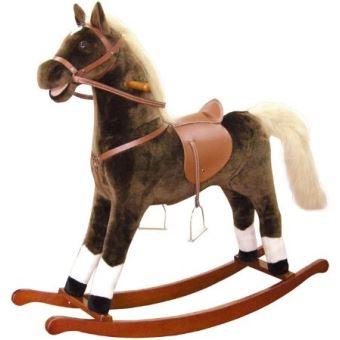 bino 82532 grand cheval a bascule en peluche jouets. Black Bedroom Furniture Sets. Home Design Ideas
