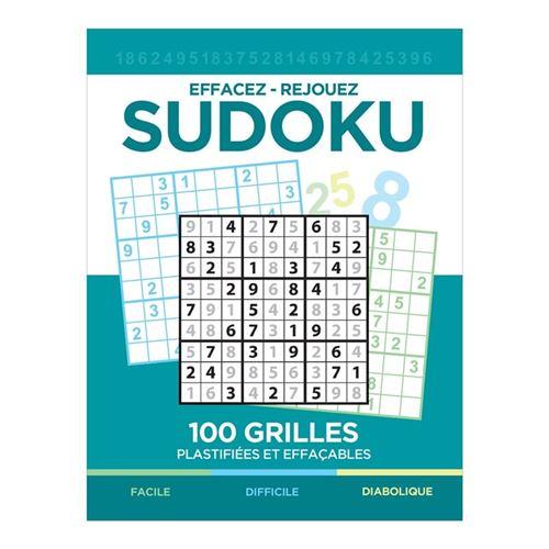 Sudoku effaçable