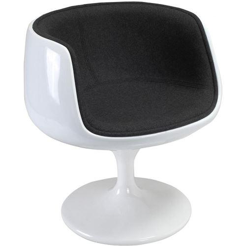Chaise Brandy - Tissu - Coque blanche
