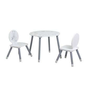 Blanc Blanc Table2 Chaises Gris Table2 Nounours Nounours Chaises Gris 80wmnNv