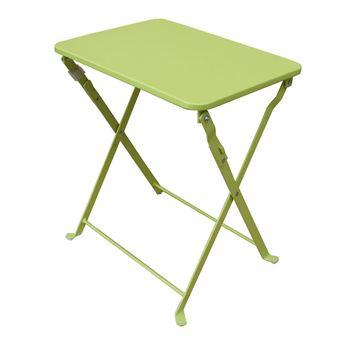 Table D\'Appoint De Jardin Pliante Coloris Vert Anis - Dim : 40 X 35 ...