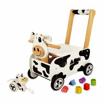 Pousseur porteur en bois Clara la vache IM87131 - Porteur Bois - Achat    prix   fnac 2425accfad6