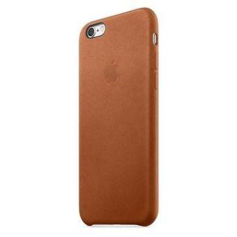 coque iphone xr cuire marron