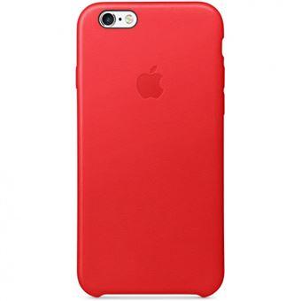 Coque Apple en Cuir pour iPhone 6 et 6s Rouge