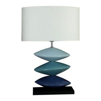 A 3 Céramique Cm 40x40x59 Juncal Et Disques Argent Lampe Poser 0PX8knwO