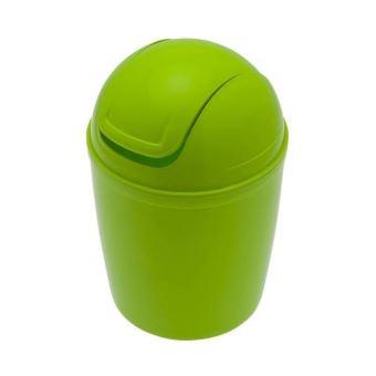 Frandis mini poubelle de salle de bain en plastique vert for Mini poubelle de salle de bain