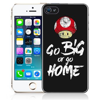 Coque pour iPhone SE go big or go home musculation