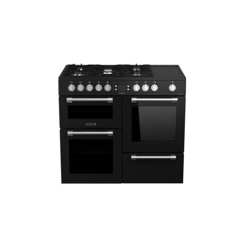 Leisure Cookmaster CK100F320KG - Cuisinière (four à deux étages) - pose libre - largeur : 100 cm - profondeur : 60 cm - hauteur : 90 cm - noir