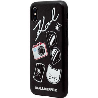 coque iphone x karl lagerfeld noir