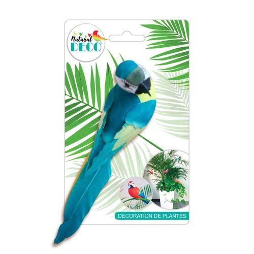Déco Plantes – Grand Oiseau Bleu CD3819