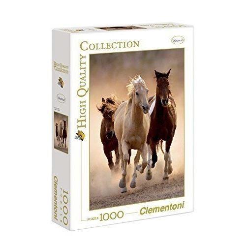 Clementoni Puzzle Adulte Collect Cheval Brun Dans La Prairie 1500 Pieces