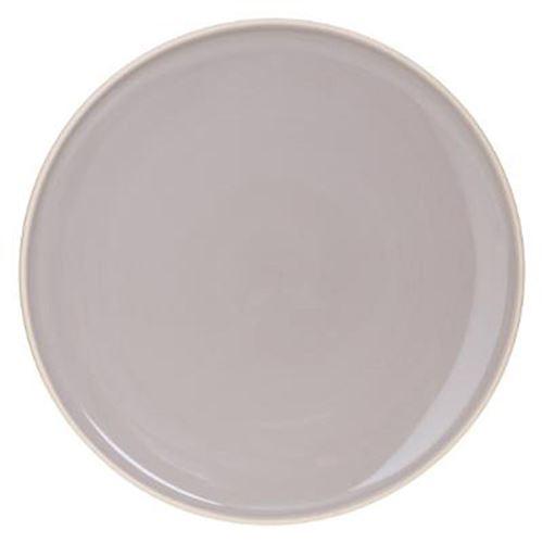 Lot de 6 Assiettes Plates Sofia 27cm Gris