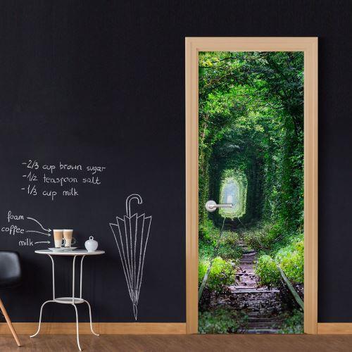 Papier-peints pour porte   Walk under the pergola   100x210    