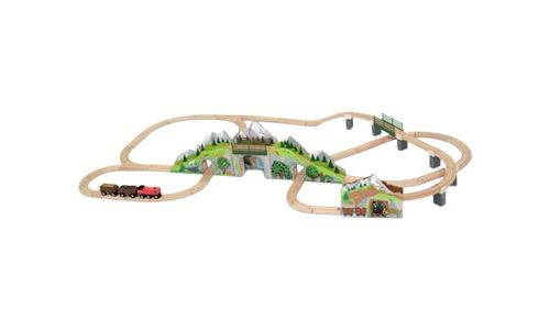 Melissa & Doug - Mountain Tunnel Wooden Train Set