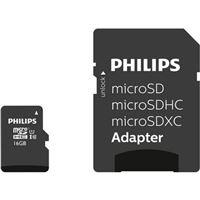 Carte mémoire Philips Class 10 Micro SDHC UHS-I 32 Go avec Adaptateur micro SD Noir