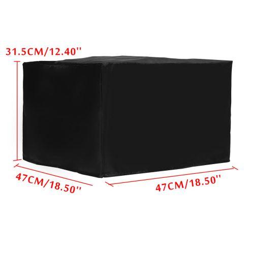 47x47x30cm Nylon Printer Dust Housse de protection pour chaise de protection Table Noir