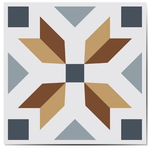 Walplus stickers muraux Azulejo 10x10 cm 24 pièces unisexe multicolore