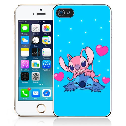 Coque pour iPhone 4 - 4S - Stitch Angel Love