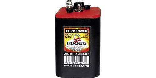 Pile spéciale 4LR25 alcaline(s) Europower EUR4LS25 contact à ressort 6 V 50000 mAh 1 pc(s)