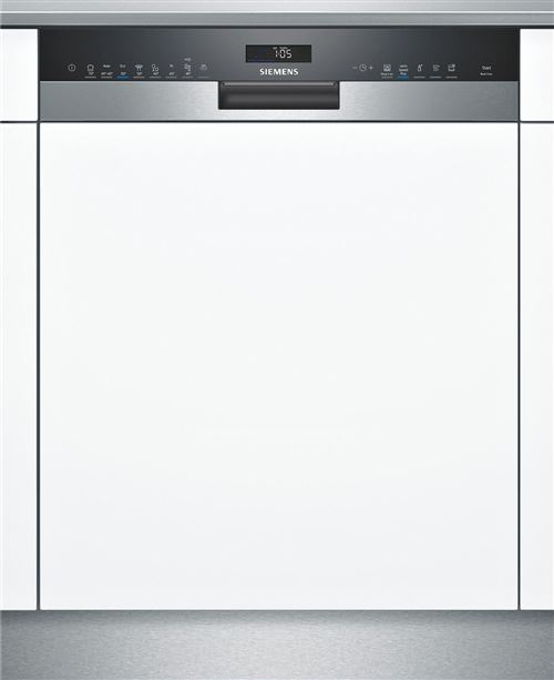 Siemens SN558S09ME - Lave-vaisselle - intégrable - Niche - largeur : 60 cm - profondeur : 55 cm - hauteur : 81.5 cm - acier inoxydable
