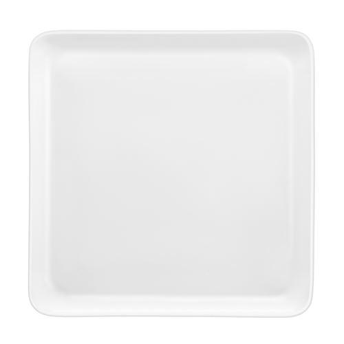 MÉDARD DE NOBLAT - YAKA BLANC - Coffret 6 assiettes plates carrées