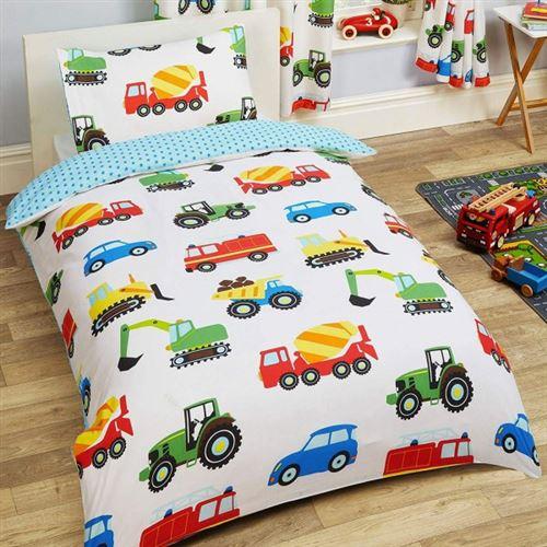 Camion Tracteur - Parure de Lit Enfant - Housse de Couette