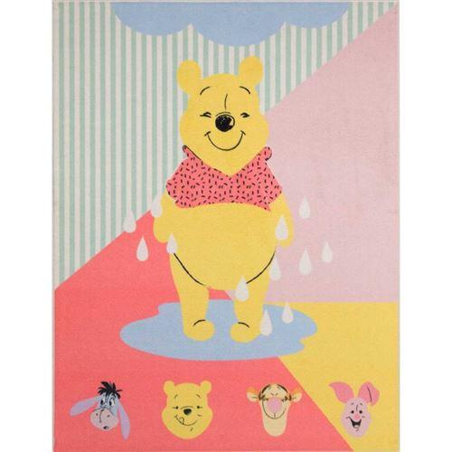 Tapis Winnie l'Ourson Disney avec les tetes de ses amis - 95 x 125 cm