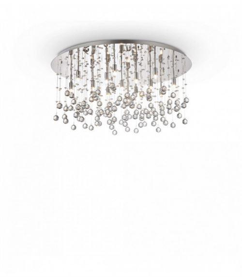 Plafonnier Chrome en cristal MOONLIGHT 15 ampoules