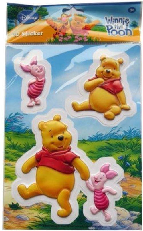 Disney Stickers 3D Winnie l'ourson jaune/rose/rouge 3-pièces